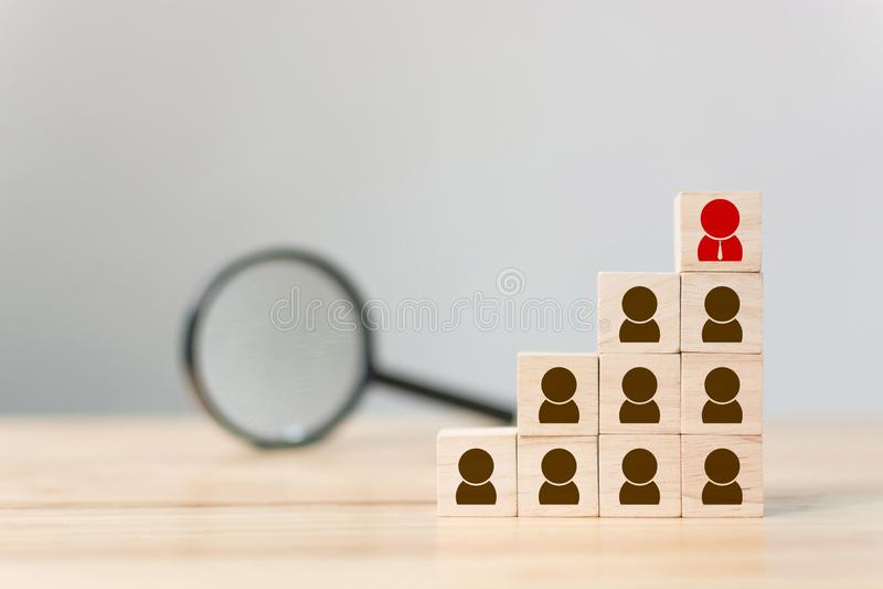 Menselijke middel en commercieel van de van het talentenbeheer en rekrutering bouwteam, Persoonlijke ontwikkeling stock afbeeldingen