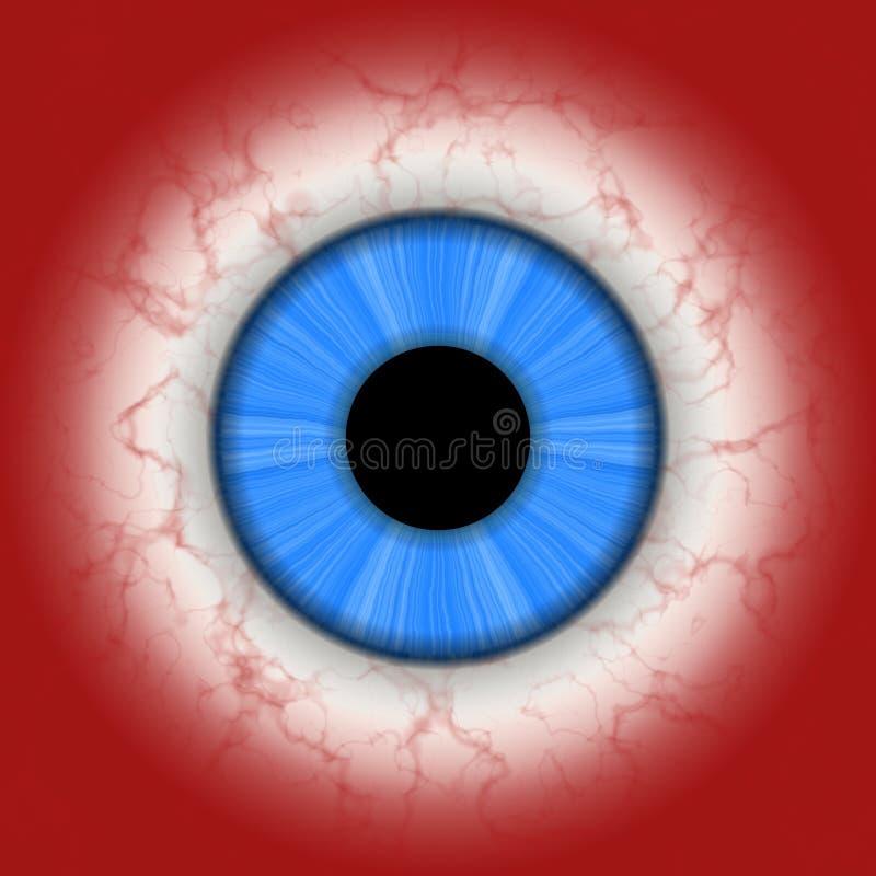 Menselijke oogclose-up stock illustratie