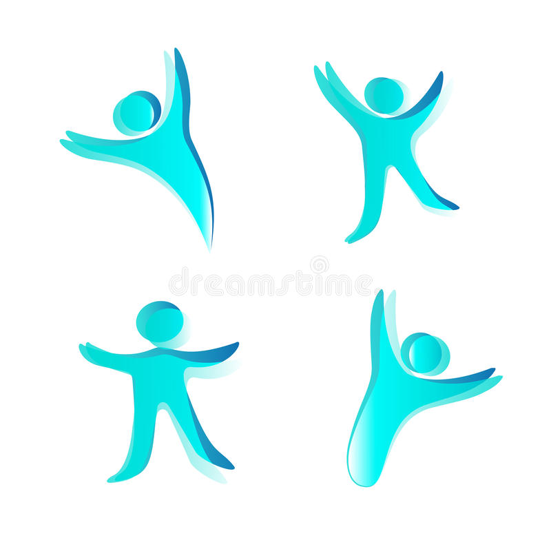 Menselijke pictogrammen stock illustratie