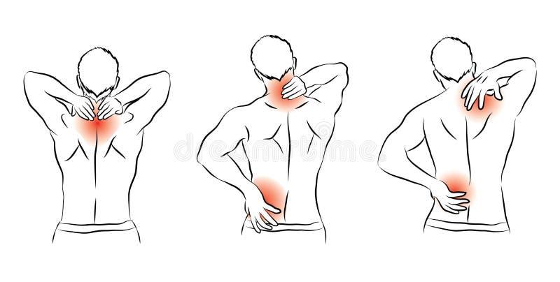 Menselijke pijn stock illustratie