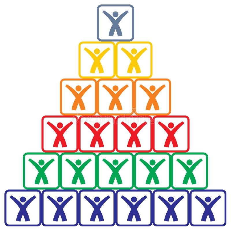 Menselijke piramide stock illustratie