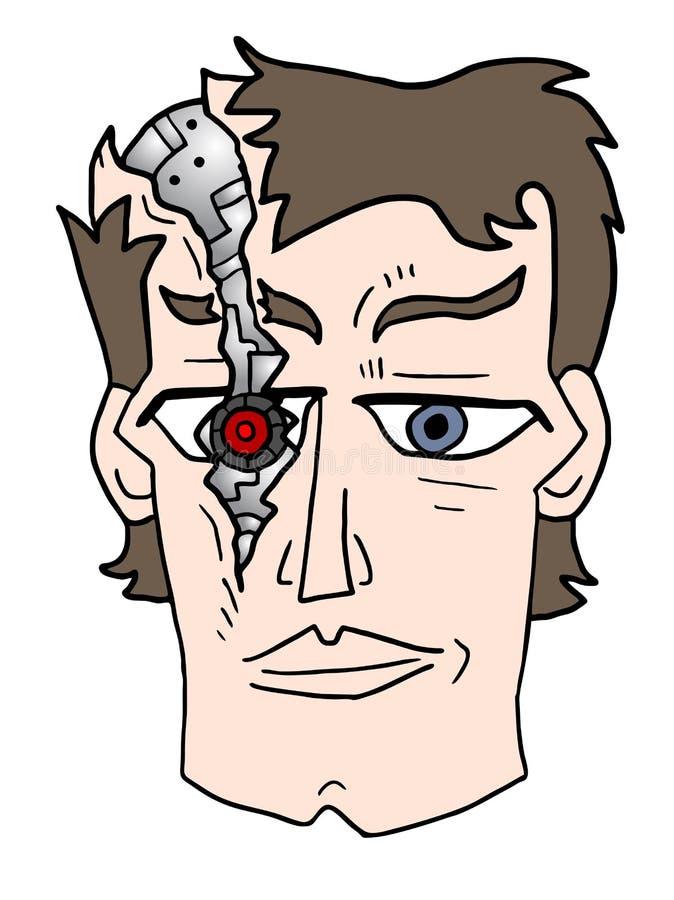 Menselijke robot vector illustratie
