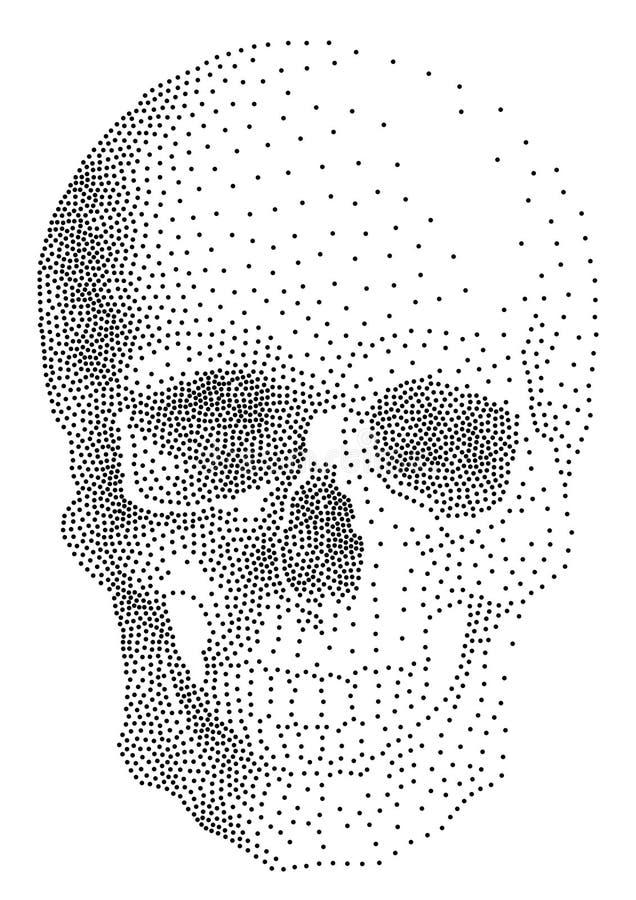 Menselijke schedel,   stock illustratie