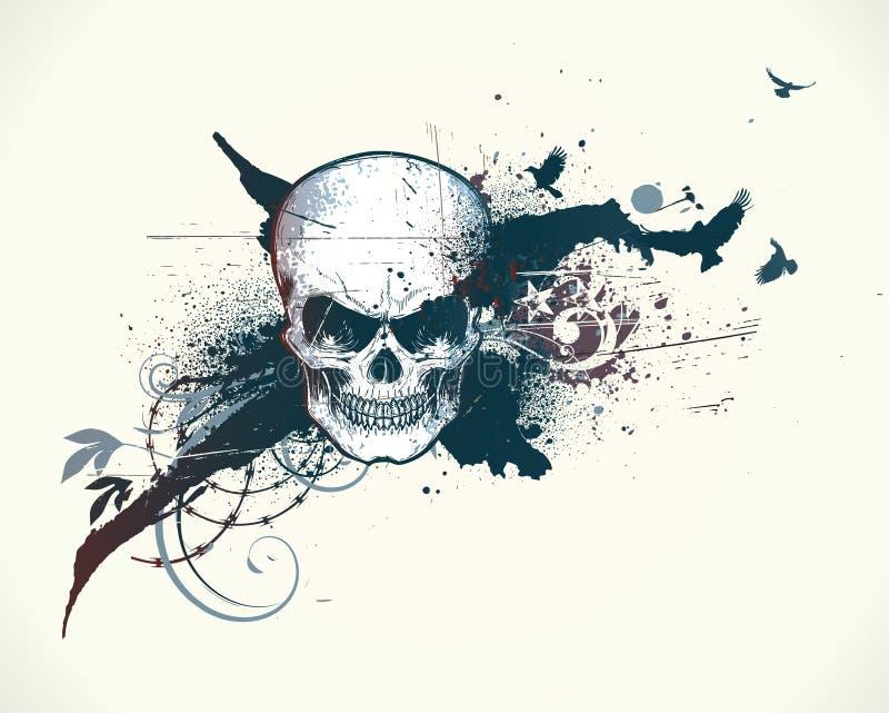 Menselijke schedel royalty-vrije illustratie