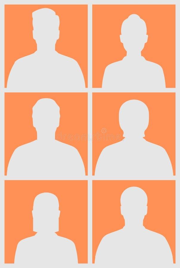 Menselijke silhouetten stock illustratie