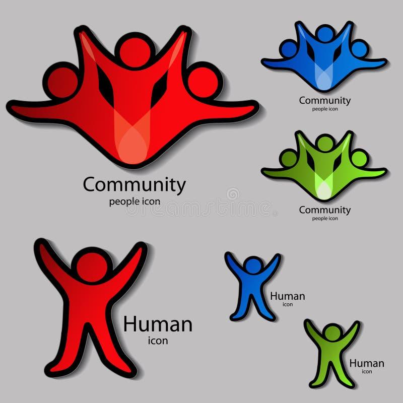 Menselijke symbolen royalty-vrije illustratie
