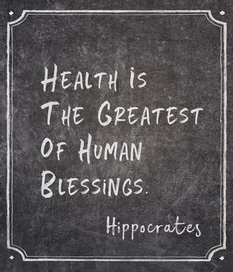 Menselijke zegen Hippocrates royalty-vrije stock foto's
