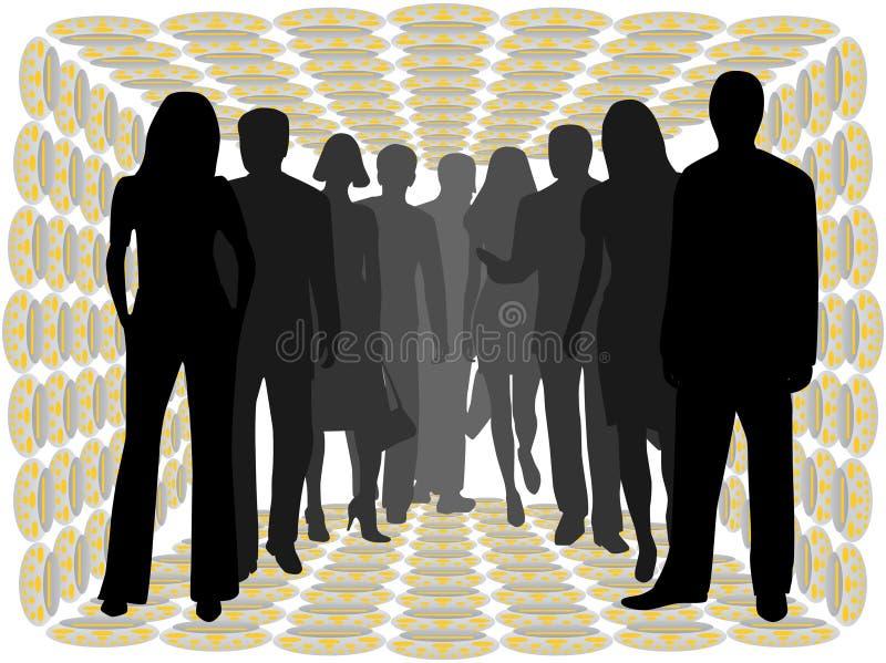 Mensen royalty-vrije illustratie