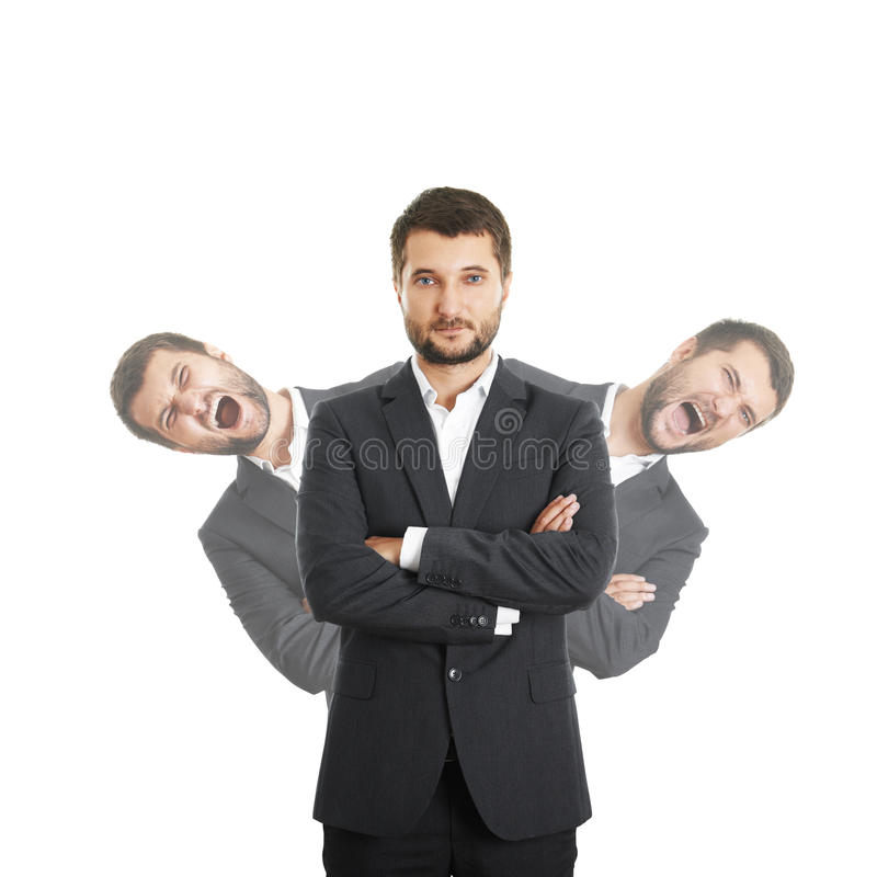 Mensen achter zekere zakenman stock afbeelding