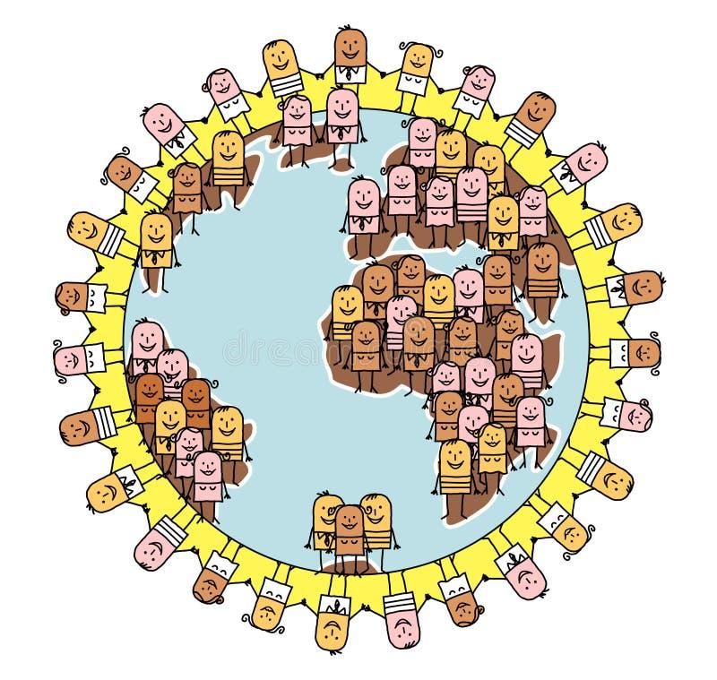 Mensen & wereld vector illustratie