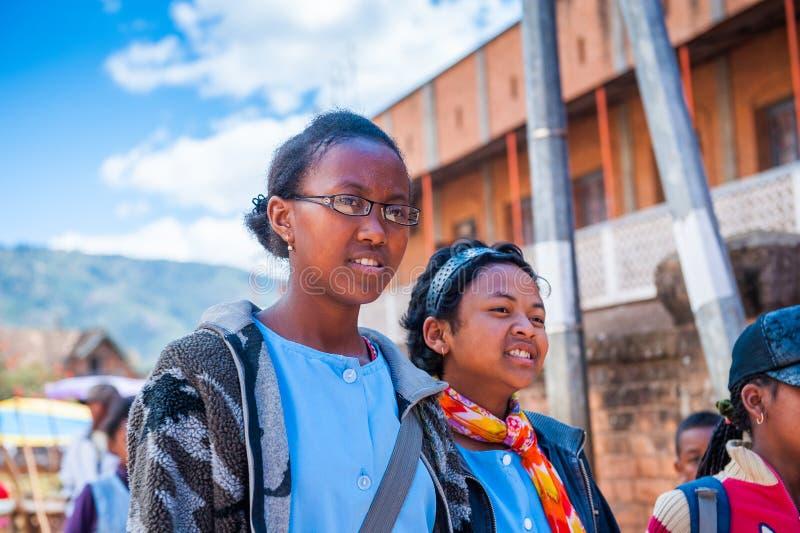 Mensen in ANTANANARIVO, MADAGASCAR royalty-vrije stock foto's