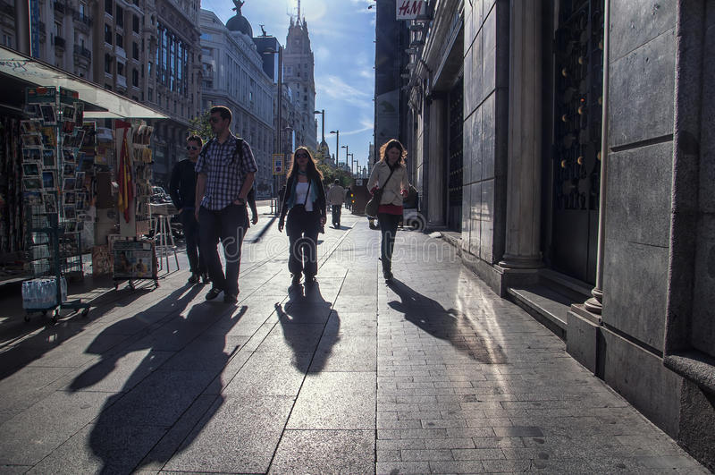 Mensen bij de straat stock fotografie