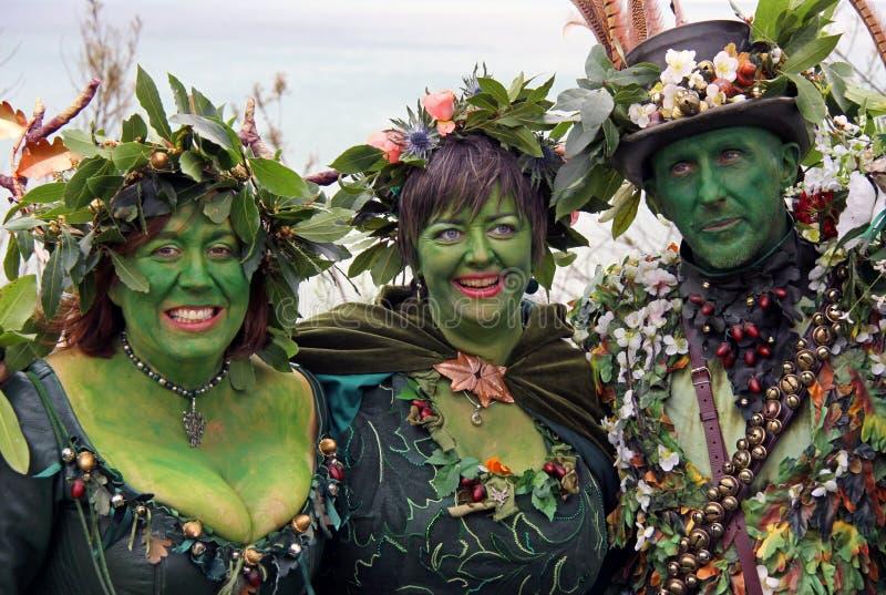 Mensen bij Hefboom in het Groene Festival stock afbeelding