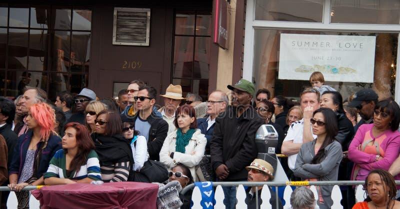 Mensen bij het Festival van de Jazz Fillmore in San Francisco royalty-vrije stock fotografie