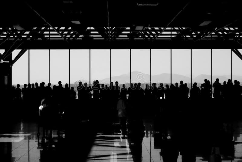 Mensen bij luchthaven royalty-vrije stock foto