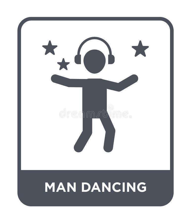 mensen dansend pictogram in in ontwerpstijl mensen dansend die pictogram op witte achtergrond wordt geïsoleerd eenvoudig en moder vector illustratie