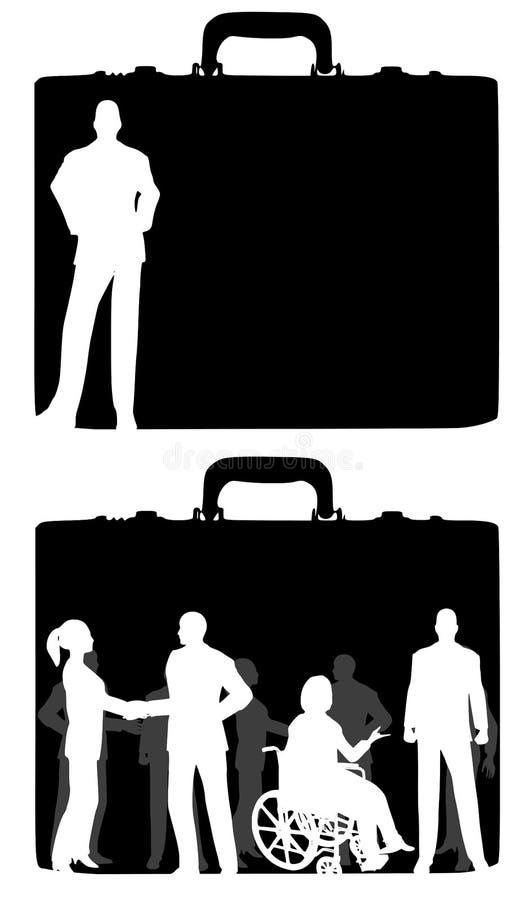 Mensen de bedrijfs van de Aktentas   vector illustratie
