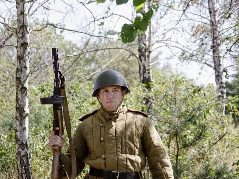 Mensen in de oorlog royalty-vrije stock afbeelding