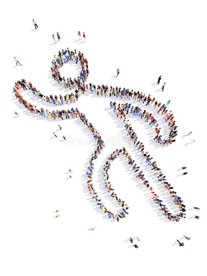 Mensen in de vorm van een mens stock illustratie