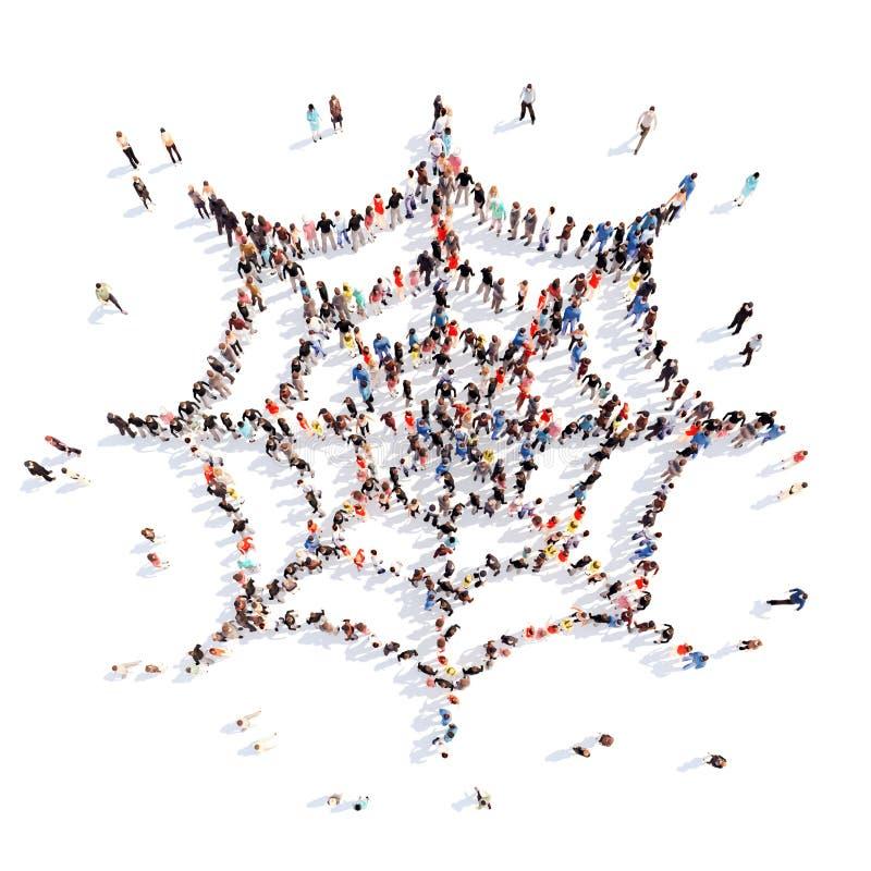 Mensen in de vorm van een Web vector illustratie