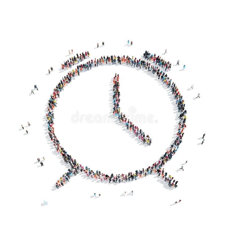 Mensen in de vorm van horloges stock illustratie