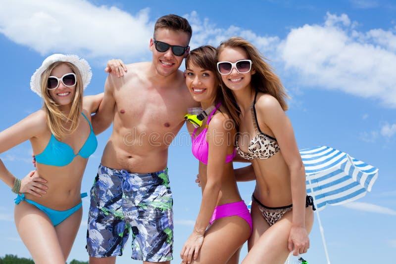Mensen in de zomertijd stock foto