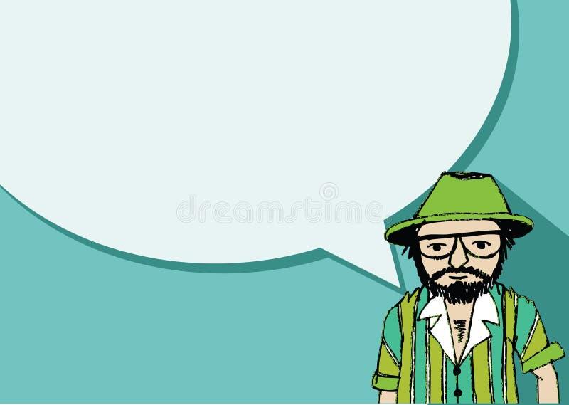 Mensen denken en volkeren die met de bellen van de dialoogtoespraak spreken vector illustratie