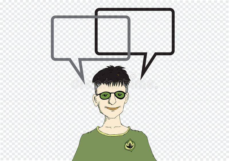 Mensen denken en volkeren die met Toespraakbel spreken royalty-vrije illustratie
