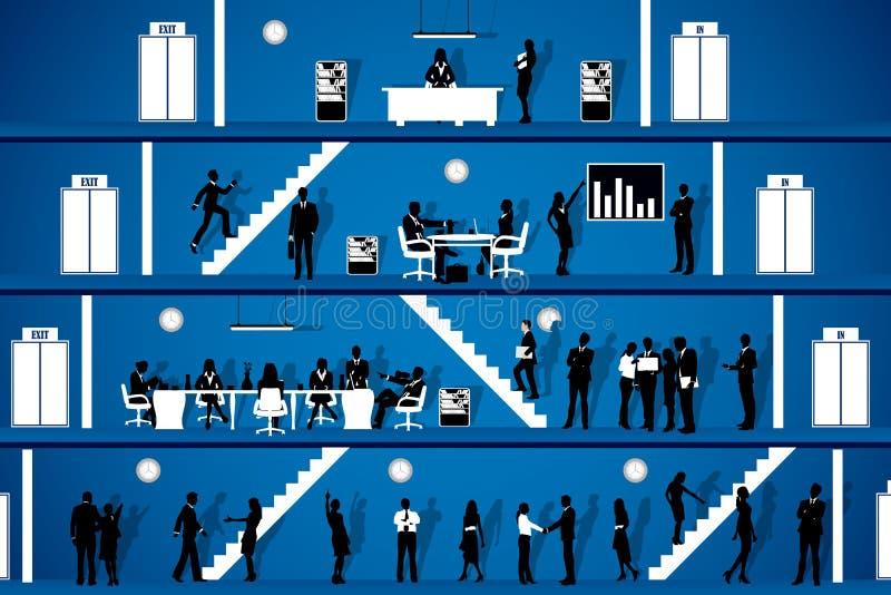 Mensen die in Bureau werken stock illustratie