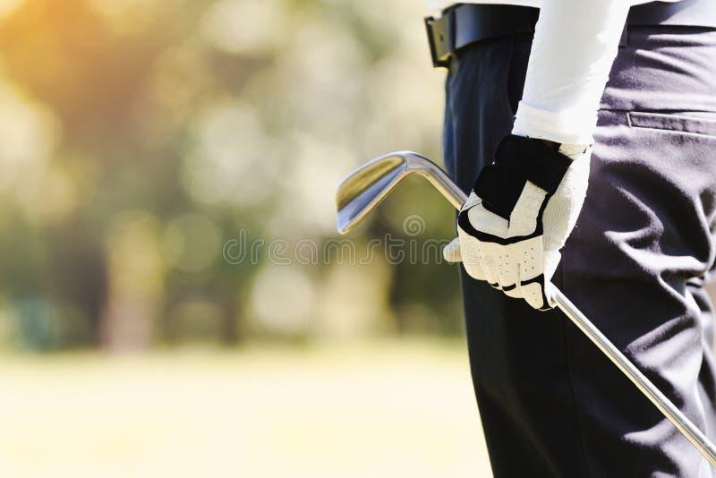 Mensen die Golf spelen stock fotografie
