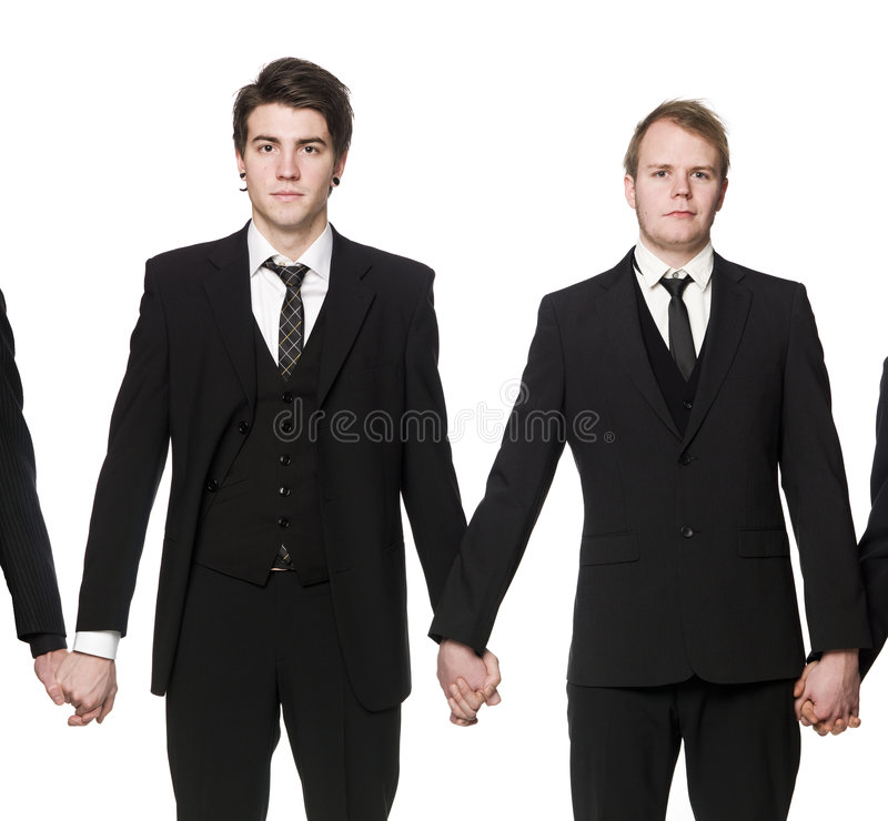 Mensen die handen houden stock foto