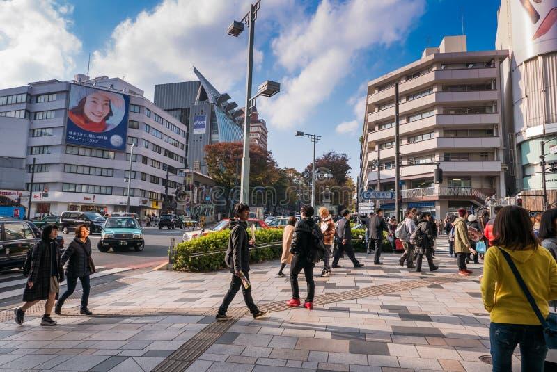 Mensen die in Harajuku lopen stock afbeelding