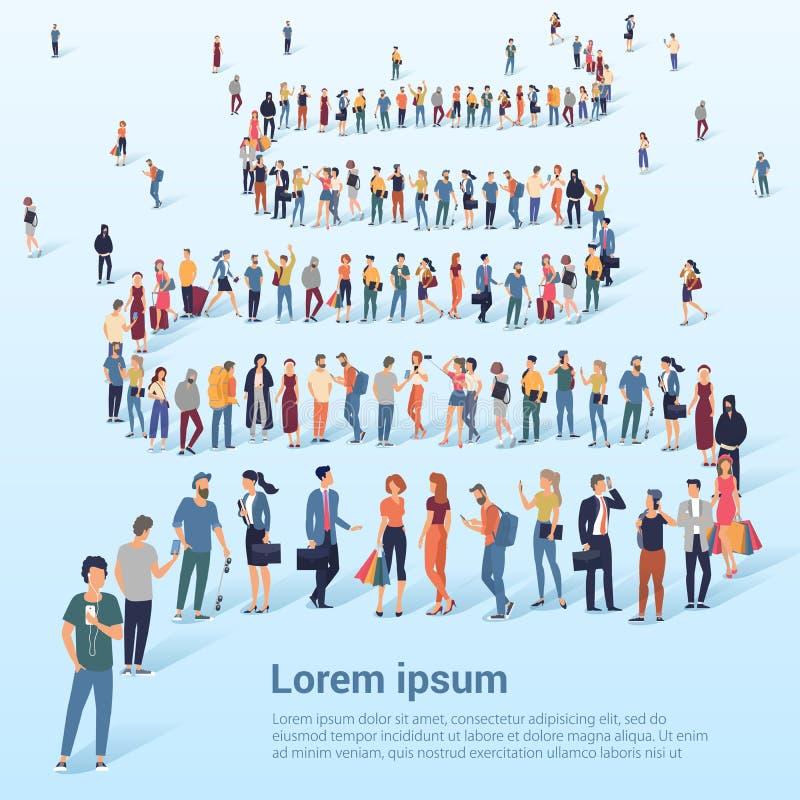 Mensen die in Lijn wachten vector illustratie