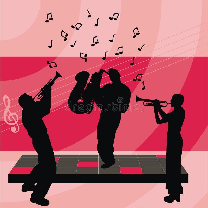 Mensen die muziek spelen stock illustratie