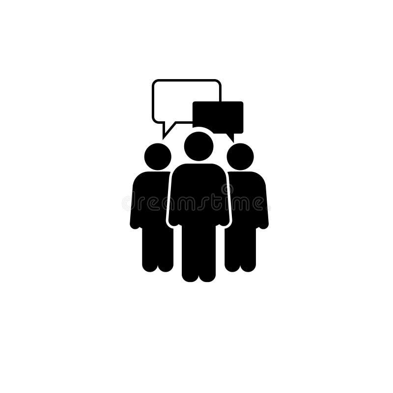 Mensen die Pictogram spreken Één van vastgestelde Web vectorpictogrammen stock illustratie
