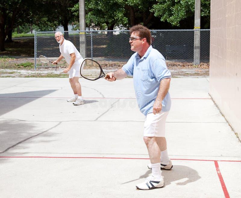 Mensen die Racketball spelen royalty-vrije stock foto