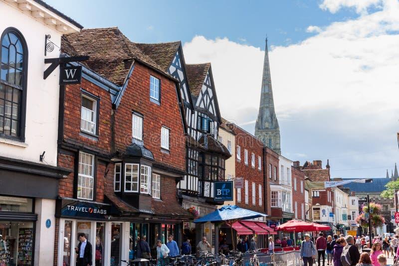 Mensen die Salisbury bezoeken royalty-vrije stock foto's