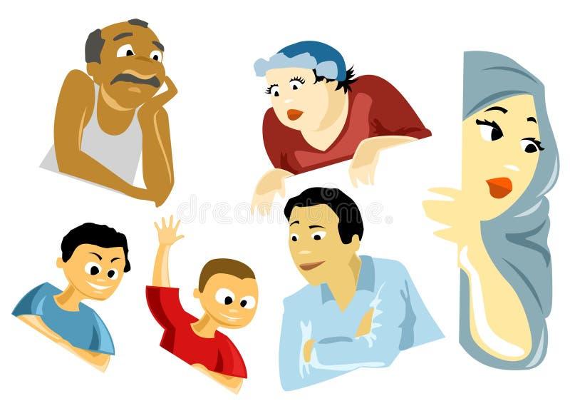 Mensen die van het Venster kijken vector illustratie