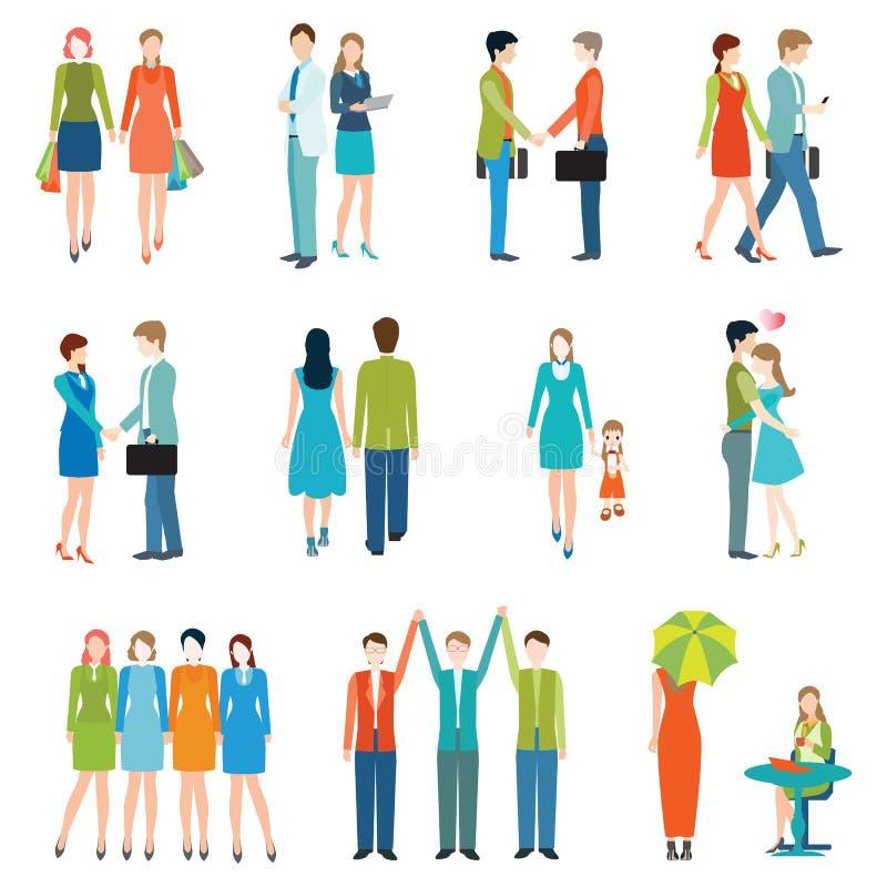 Mensen in diverse levensstijlen vector illustratie