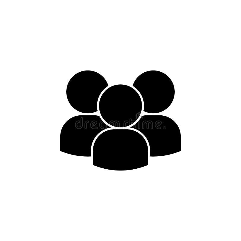 mensen, drie avatars pictogram Element van een groeps mensen pictogram Grafisch het ontwerppictogram van de premiekwaliteit teken royalty-vrije illustratie