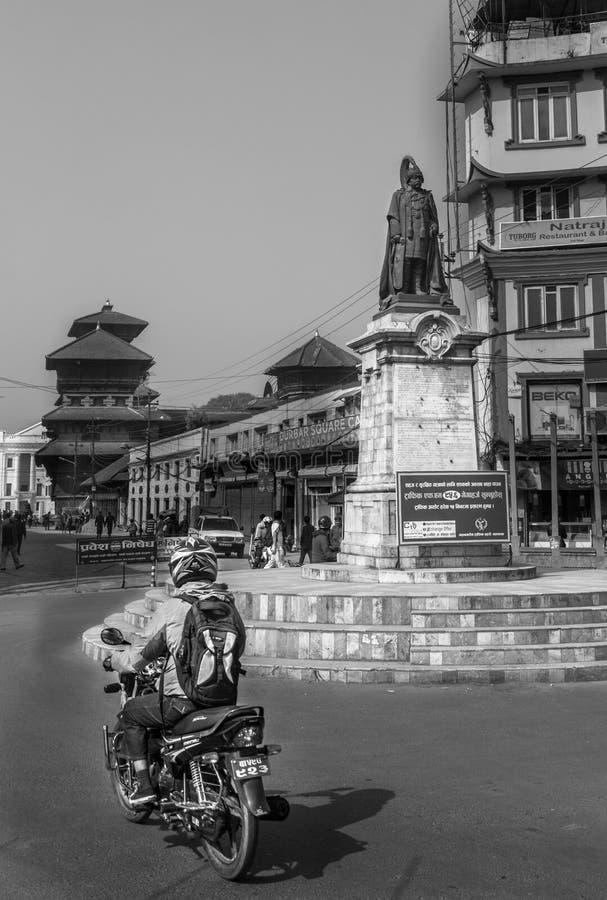Mensen in Durbar-Vierkant royalty-vrije stock foto's