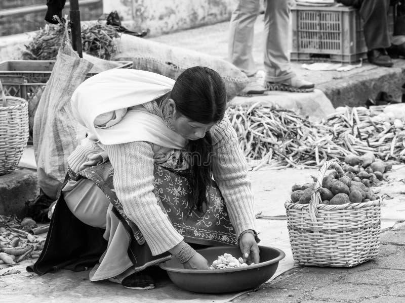 Mensen in Ecuador stock foto's