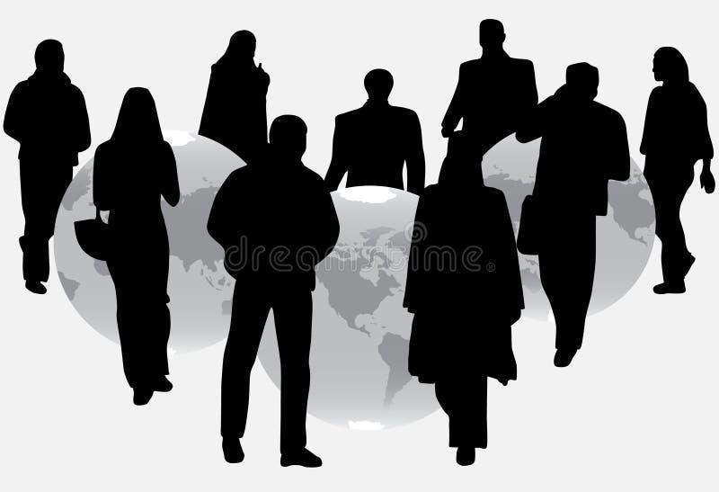 Mensen en bol vector illustratie