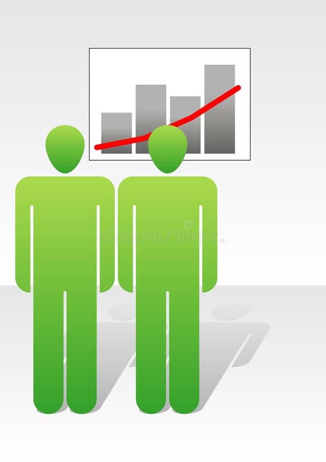 Mensen en grafiek royalty-vrije illustratie
