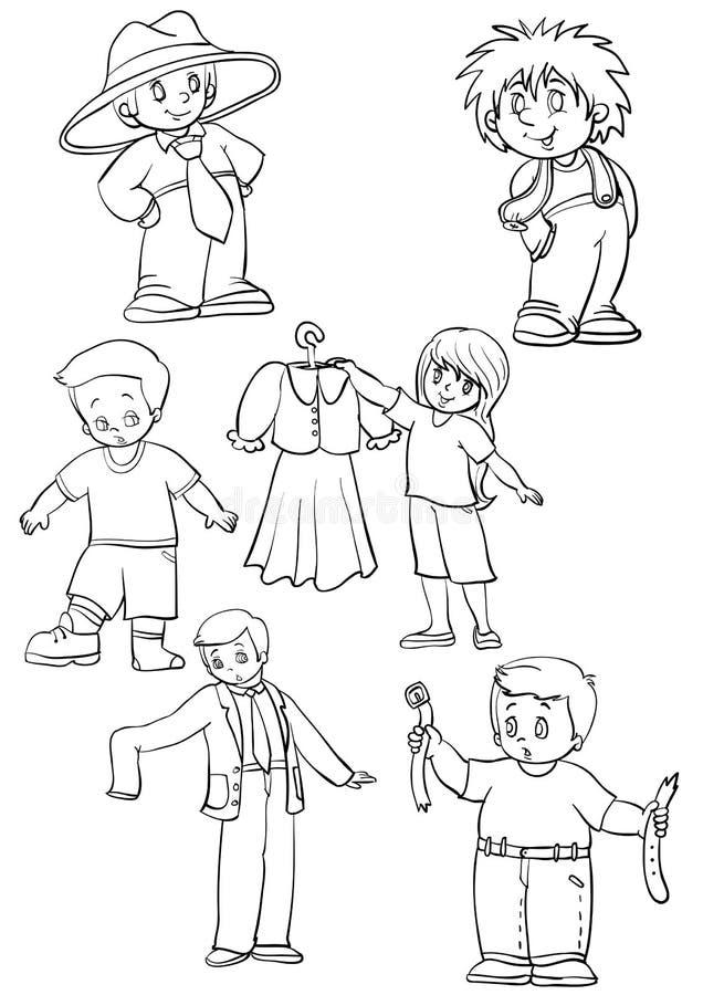 Mensen en kleren vector illustratie