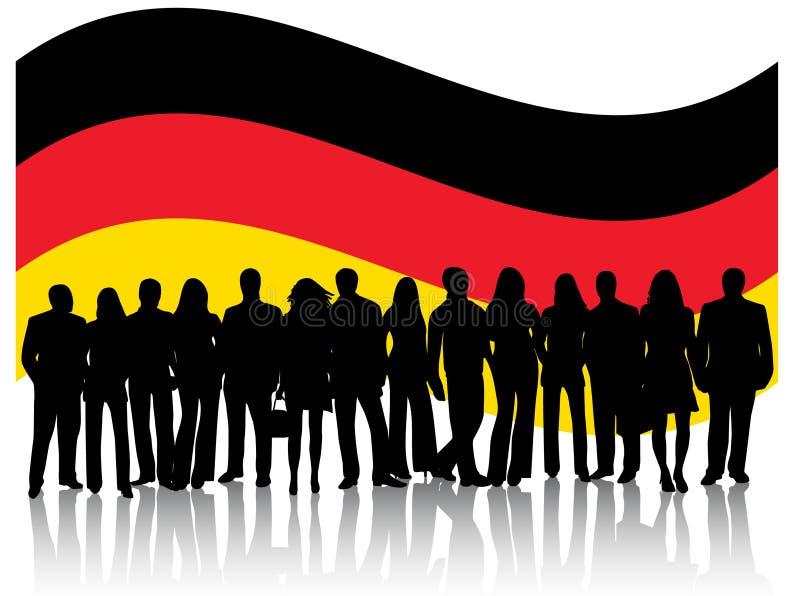 Mensen en vlag vector illustratie