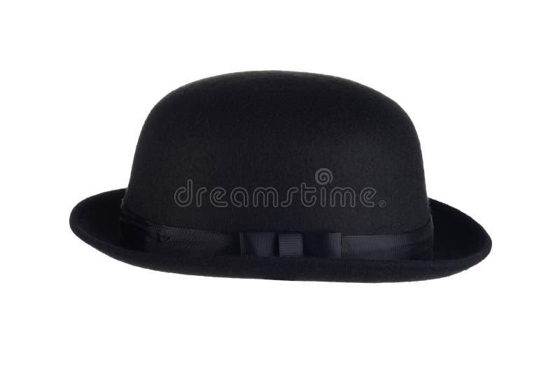 Mensen geïsoleerde bowlingspeler zwarte hoed royalty-vrije stock foto's