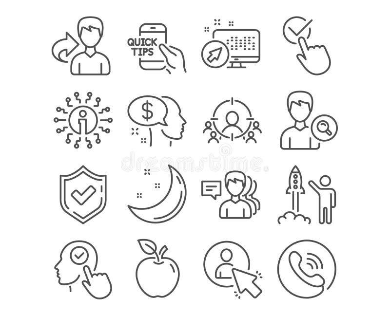 Mensen, Gebruiker en Zaken die pictogrammen richten Betaal, zoek mensen en Uitgezochte gebruikerstekens Vector stock illustratie
