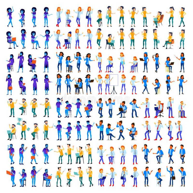Mensen Geplaatst Vector Man, vrouw Moderne gradiëntkleuren Verschillende de mensen stellen Creatieve mensen Het element van het o royalty-vrije illustratie