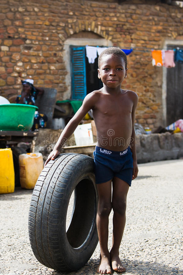 Mensen in GHANA royalty-vrije stock fotografie